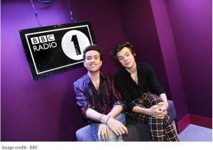 BBC Harry Styles and DJ Nick Grimshaw