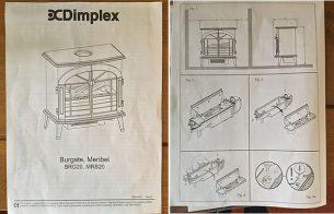 Dimplex Burgate Opti-Myst Electric Stove Instructions