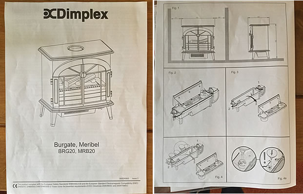 Dimplex Burgate Opti-Myst Electric Stove Instructions