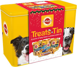 Dogs Christmas Tin