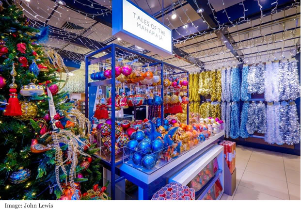 John lewis great wall of baubles 2017