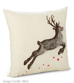 B&Q Reindeer cushion