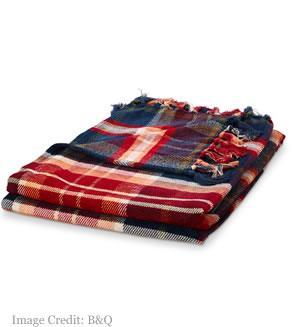 Tartan Throw from B&Q