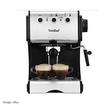 VonShef Coffee Machine £62.99 from domu-uk