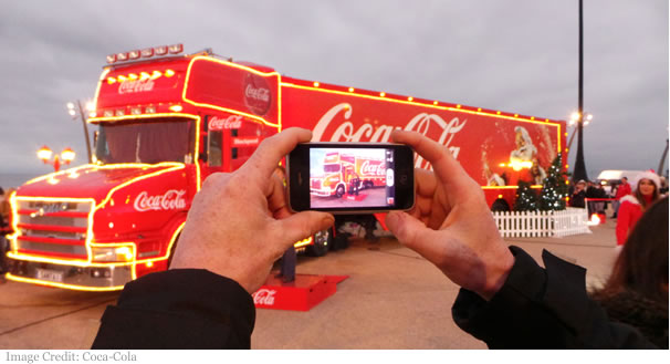 Coca-Cola Christmas truck mobile