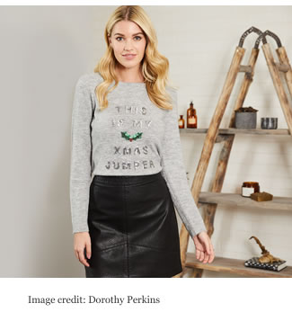 Dorothy Perkins Grey 'This is My Xmas' Christmas Jumper