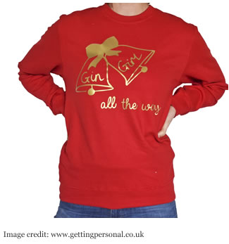 Personalised Christmas Jumper - Gin Girl All The Way