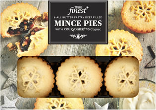 Tesco Finest All Butter Mince Pies with Courvoisier