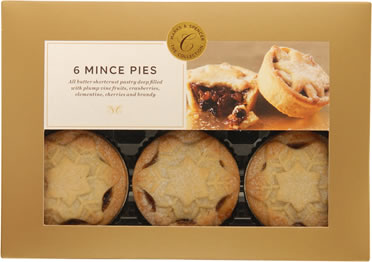 Marks & Spencer Snowflake Mince Pies