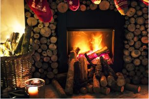 Snuggle up by the fireplace