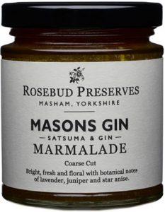 Rosebud Preserves and Masons Yorkshire Gin Marmalade