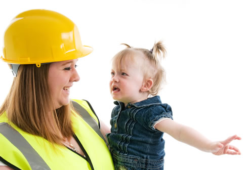 Mum the Builder with child