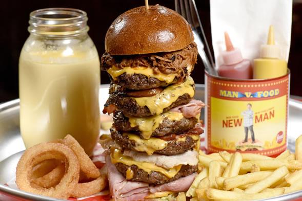 SIX patty cheeseburger