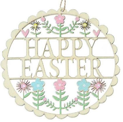 Happy Easter Decoration-Cream