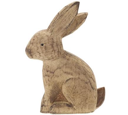 Sainsbury's Home Brown Wooden Rabbit