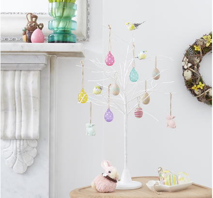 John Lewis white Easter decorative tree