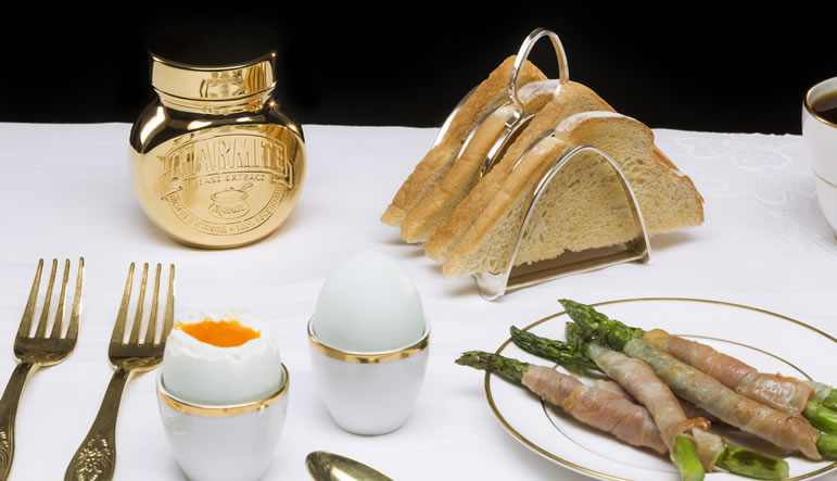 Eighteen Carat Gold jar Marmite