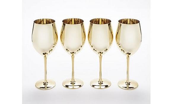 Set of 4 Metallic wine glasses by studio.co.uk
