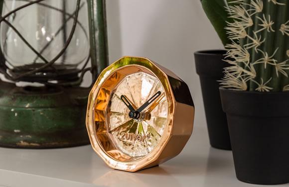 Zuiver Bink Time Desk Clock in Copper, £25