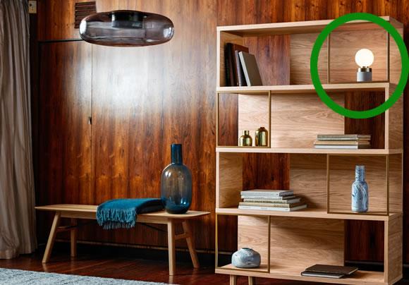 Design Project by John Lewis No.046 Lamp, Opal Glass/Concrete