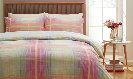 M and Co Check bedding set