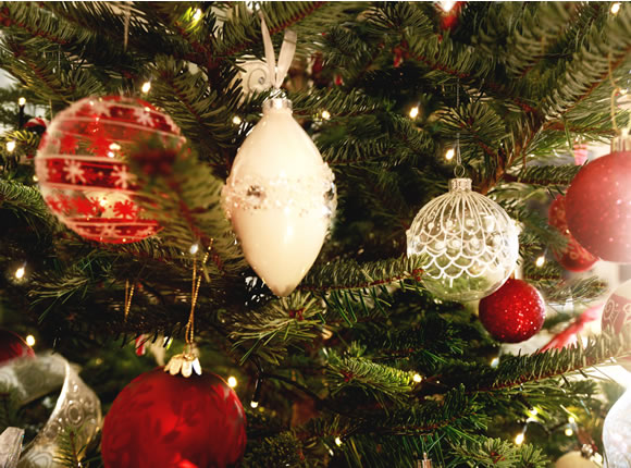 Pine and Needles ornaments