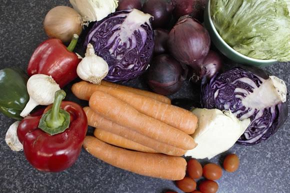 Winter Coleslaw Ingredients