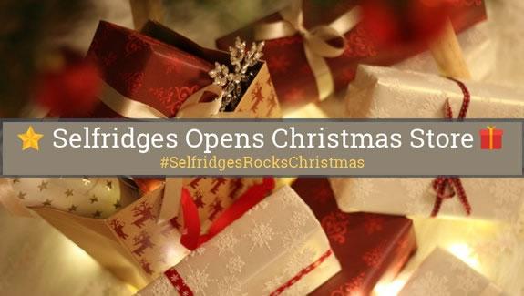 Image of Selfridges Christmas Shop Notice