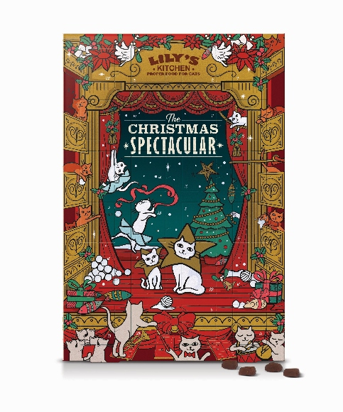 Christmas Spectacular'Advent Calendar for Cats, (RRP £10)