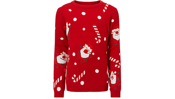 F&F Red Kids Christmas Jumper from £12