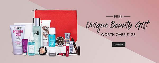Feelunique FREE Beauty Gift worth over £125 when you spend £100 or more