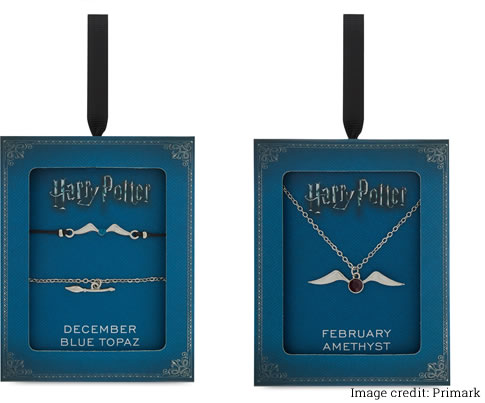 Image of Harry Potter birthstone necklaces and braclets