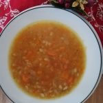 Image of homemade vegetable soup