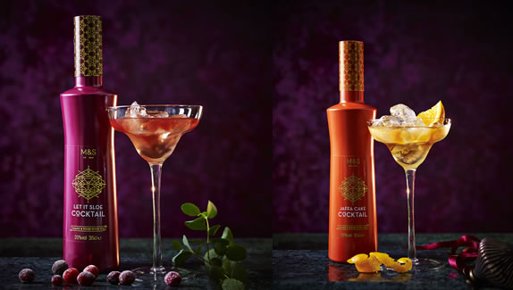 Marks & Spencer Christma 2018 - Let It Sloe Cocktail and Jaffa Cake Cocktail