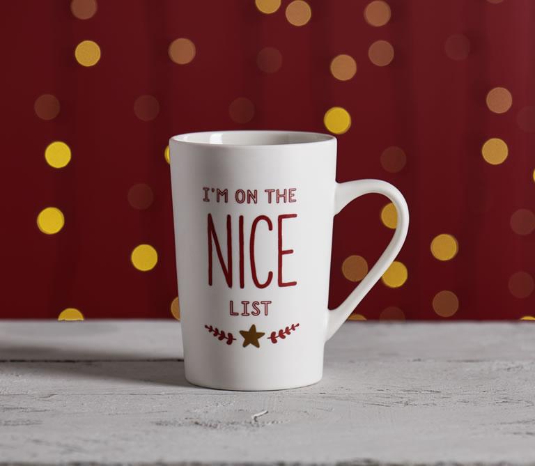 wilko Christmas nice list mug