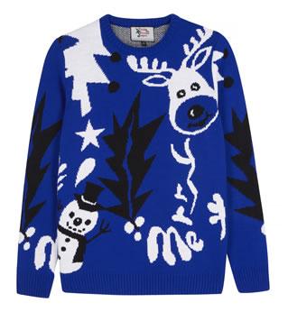 Blue jumper - British Christmas jumper at Amazon