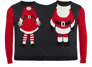 F&F Mr and Mrs Claus Two Person Jumper GBP 18.00