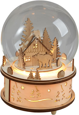 Gisela Graham Wood LED Dome