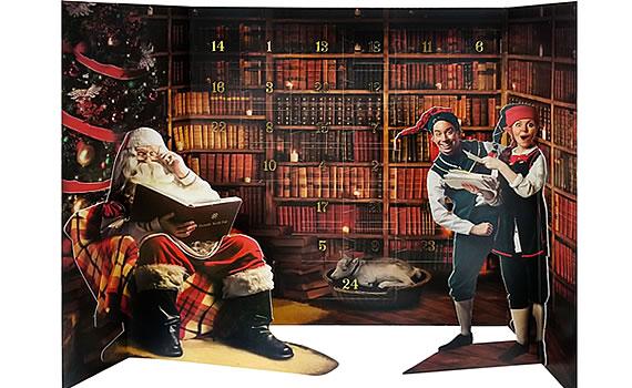 John Lewis & Partners Portable North Pole Twenty Four Treats 'Til Christmas Advent Calendar, £12