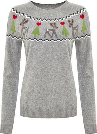 TK Maxx Grey Christmas Jumper £24.99