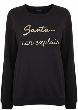 Dorothy Perkins 'Santa can explaine' jumper