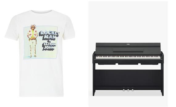Elton John T-Shirt and Piano Merchandise