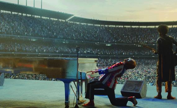 Elton John in the stadium