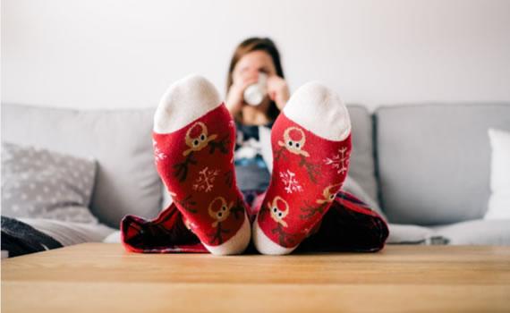 Feet up at Christmas
