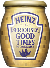 Heinz [Seriously] Good Mayonnaise Disco Ball Jars
