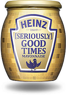 Heinz [Seriously] Good Mayonnaise LIMITED EDITION disco ball jars 2018