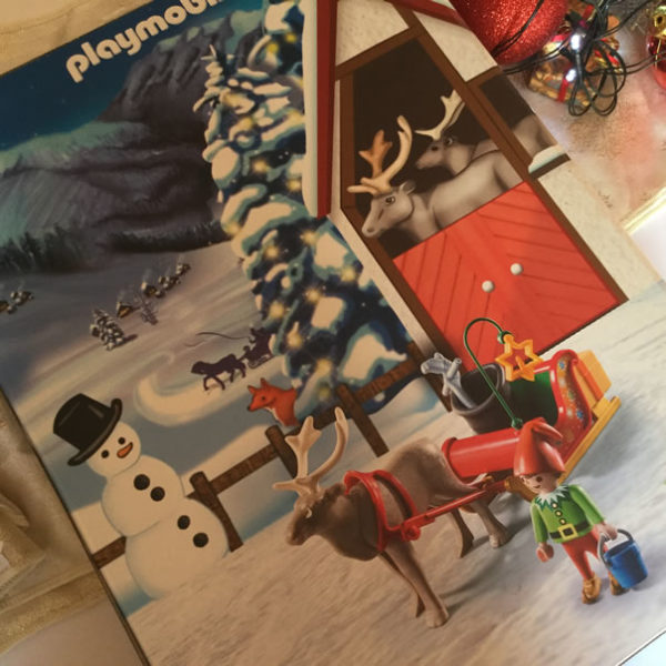 Image of back of Playmobile advent calendar