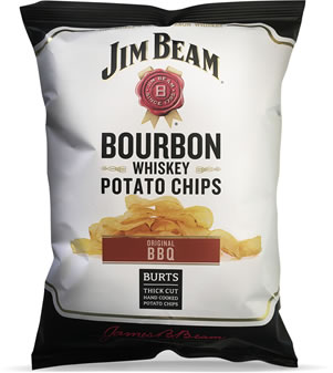 Image of Burts Chips Bourbon BBQ Jim Beam crisps