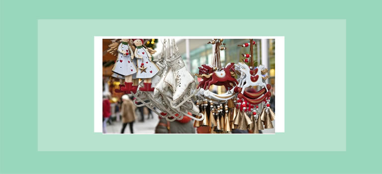 Image of Christmas decorations baubles