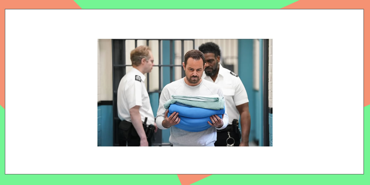 Image of mick carter from eastenders in prison